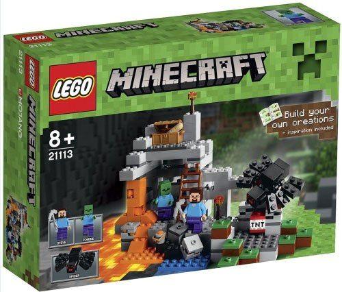Лего 21113 лего майнкрафт пещера minecraft