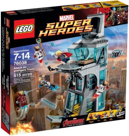 76038 Супермэн: Нападение на Башню Мстителей Конструктор ЛЕГО Супергерои