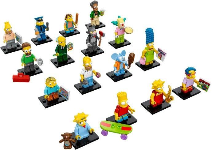 71005-17 Коллекционные Минифигурки Симпсоны (Полный Комплект из 16 фигурок)
