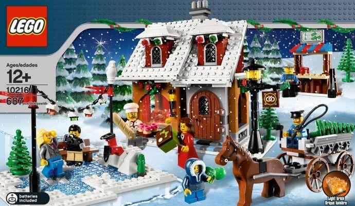 10216  Пекарня в зимней  деревне