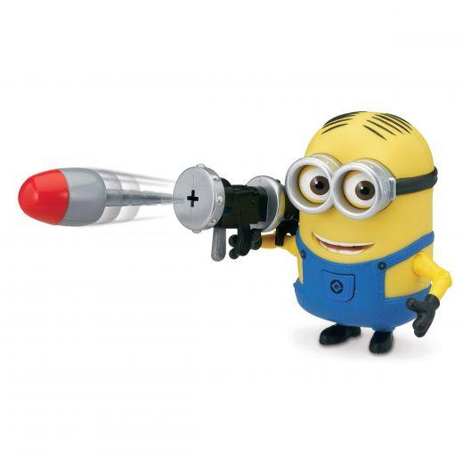 Игрушка Миньон Дэйв стреляющей ракетой