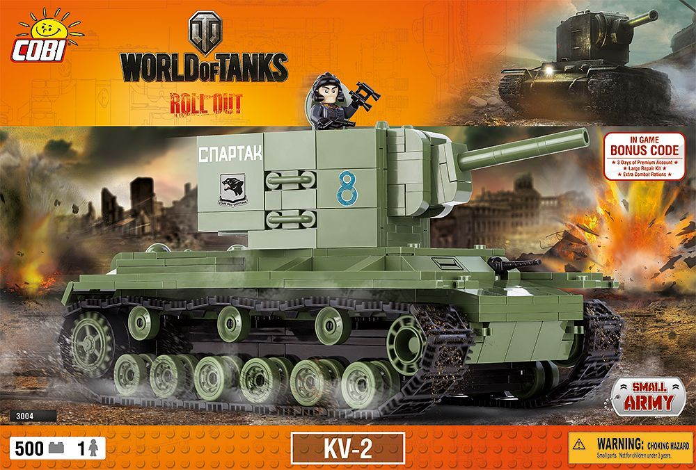 КОБИ World of Tanks - Танк КВ-2 COBI 3004