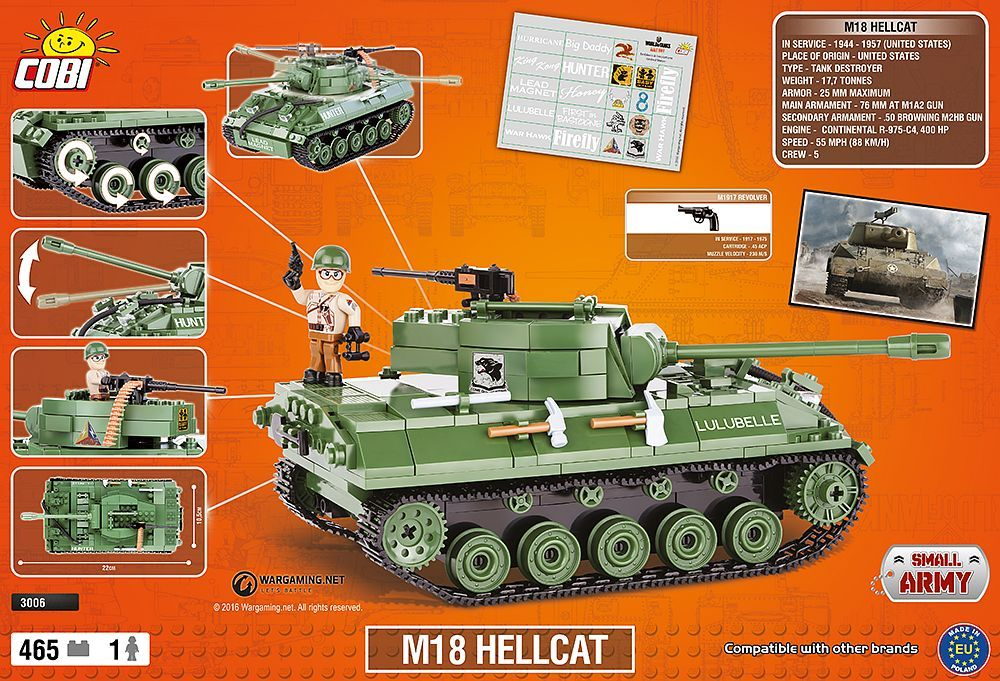 КОБИ  World of Tanks - Танк M18 Hellcat COBI-3006